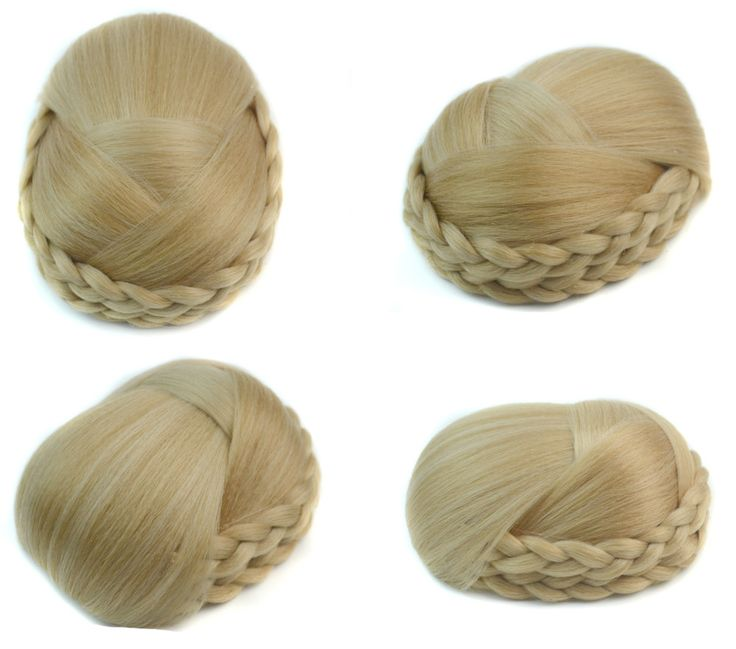 Q48  Synthetic hair chignon color of  16/613  hairstyles chignon