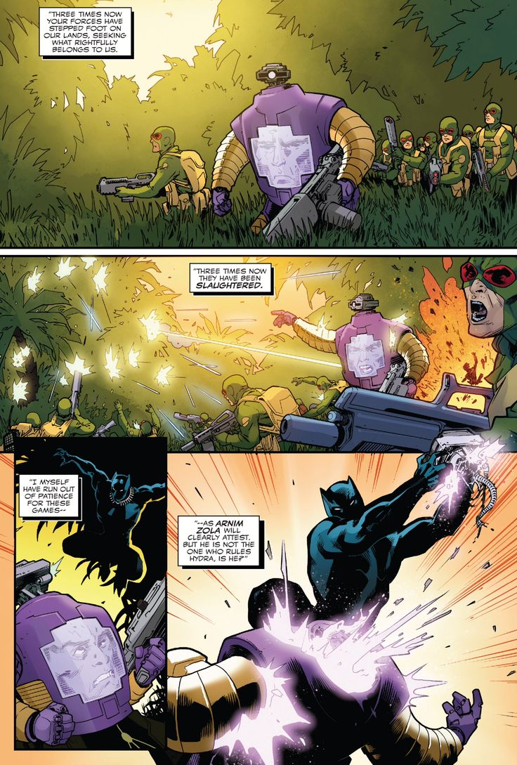 Hydra's Supreme Leader sends Arnim Zola to invade Wakanda and things did not go as planned.~ Captain America - Steve Rogers #18#marvelcomics #secretempire #blackpanther #wakanda #arnimzola