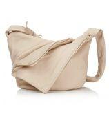 NEW Lupo Metropolis Cream Leather Shoulder Bag