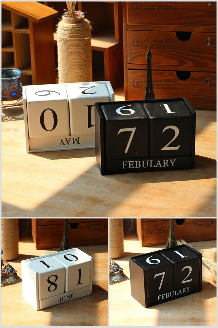 The Cubes - Calendar is on the table in the Japanese style. It decoration is very nice for your office/cabinet. It has 2 colors: white and black. Long bar shows month and cubes show date. Price $16.99 #Design #Amazing