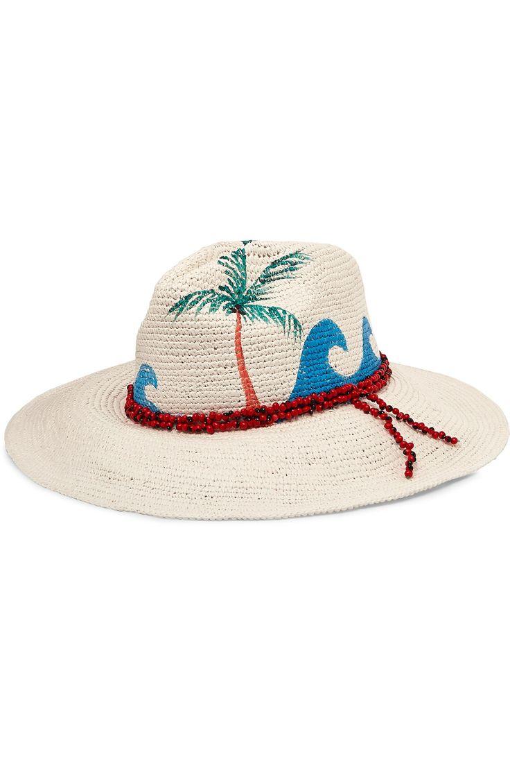 Sensi Studio | Beaded painted toquilla straw Panama hat | NET-A-PORTER.COM