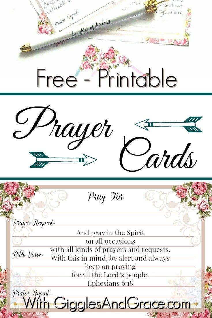 Free Printable Prayer Cards!  Prayer Card Template Free