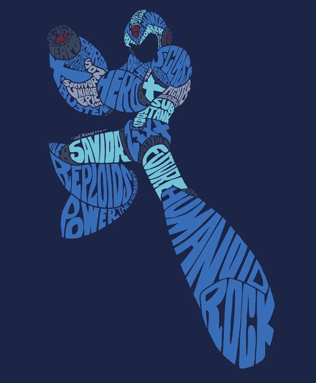 Mega Man X Word Art