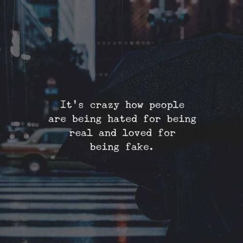 BEST LIFE QUOTES It's crazy how people are being hated for being real.. —via https://ift.tt/2eY7hg4