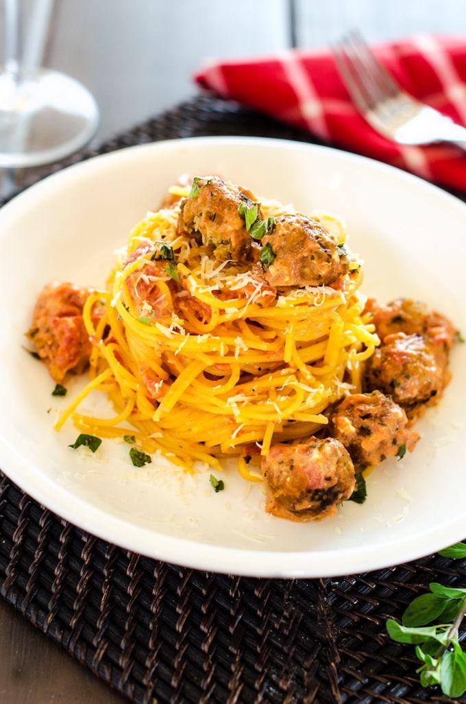 "Smokey Quinoa ""Meatballs"" with Creamy Tomato Sauce via @wendypolisi"