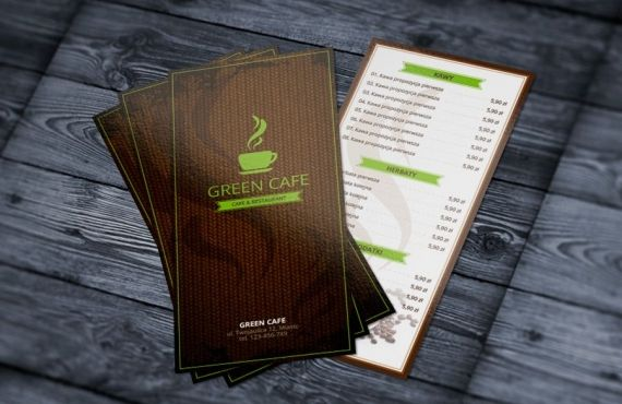 green cafe brochure design