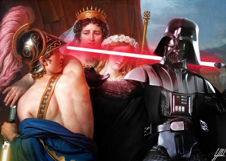 #darthvader #starwars #darkside #famous #painting #art #artwork #photomanipulation  What If Darth Vader was in the famous paintings.  The Anger of Achilles is an 1819 painting by Jacques-Louis David.