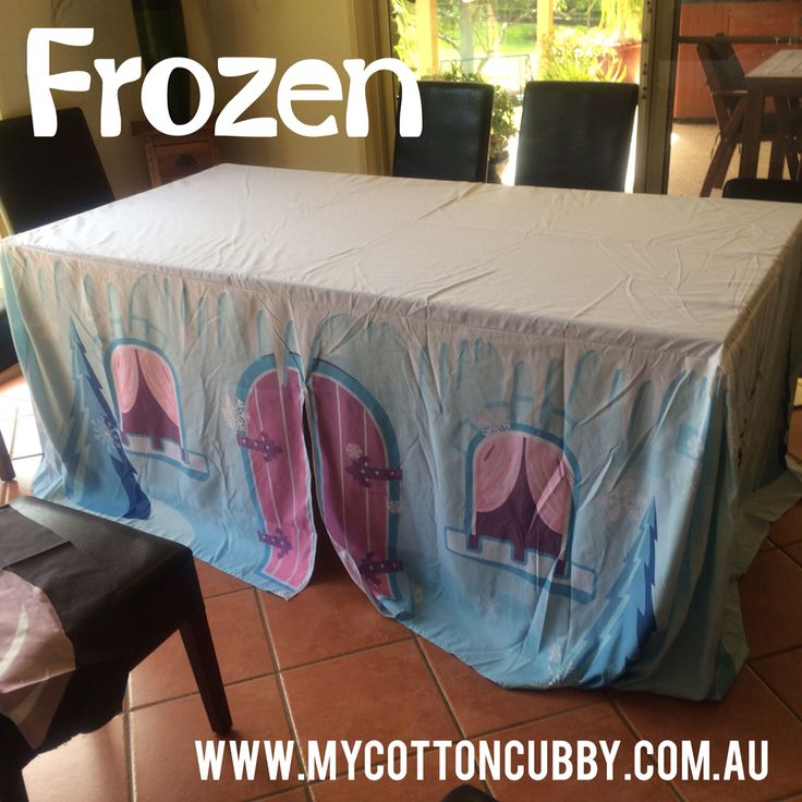 Frozen Cubby. Great indoor activity. Simply throw over a table. www.mycottoncubby.com.au