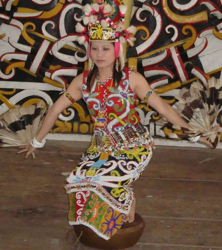 traditional dance from Kalimantan (Borneo) Indonesia