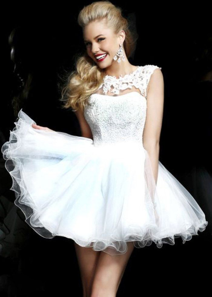 2014 Sherri Hill 21217 Ivory Lace Short Party Dress - $166.00 : Buy Designer 2014 Dresses For Prom,Homecoming Dresses Online