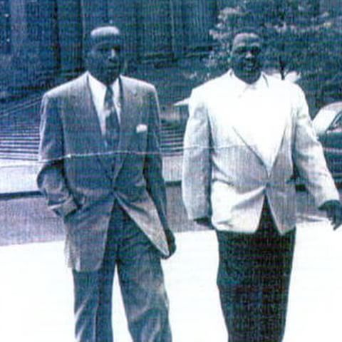 """Rare pic of Ellsworth """"Bumpy"""" Johnson, number one Genovese associate in Harlem in his day. Bumpy is the left man on the picture."""