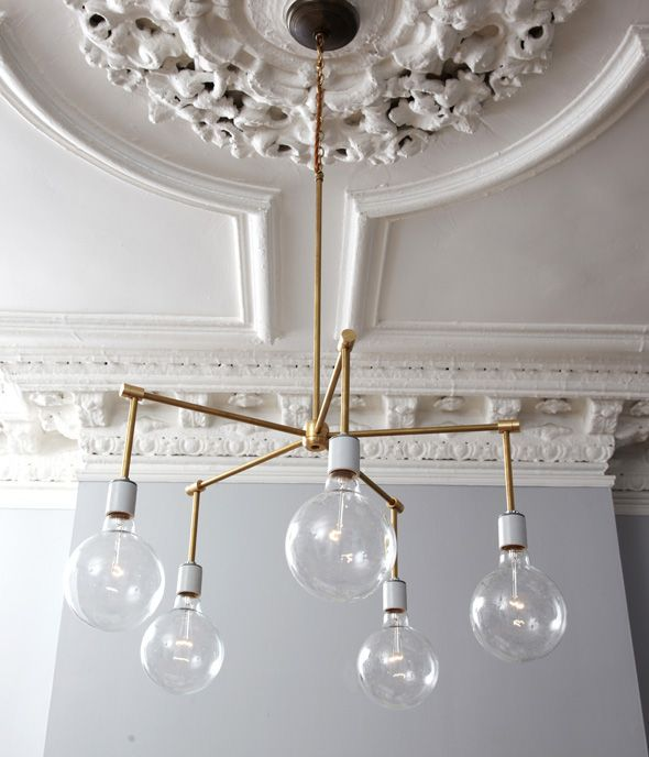 Instructions on how to make this fantastic chandelier, via Little Green Notebook.