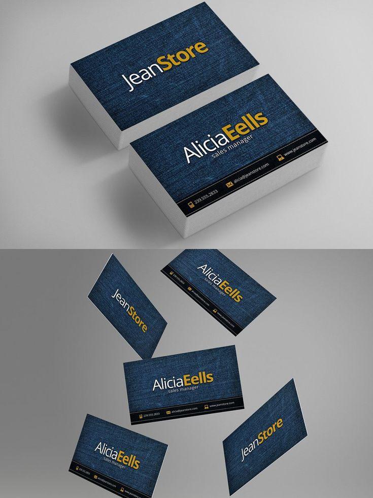 Denim business card in 2020 business card dimensions