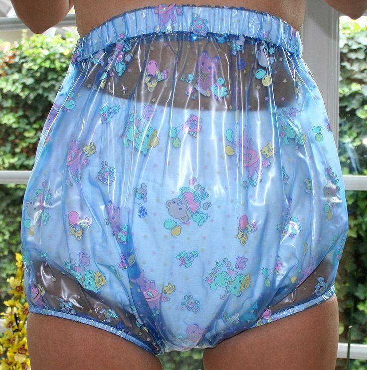 Windelhose blau transparent kid, Plastikwäsche zum Verlieben