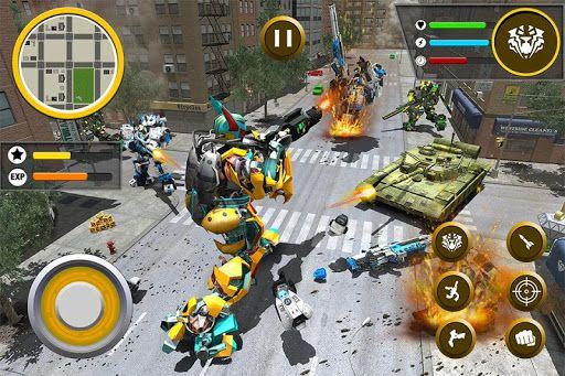 hack mod apk Real robot tiger game tiger robot transforming free
