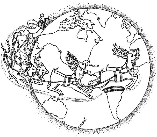 Christmas Around World Coloring Pages