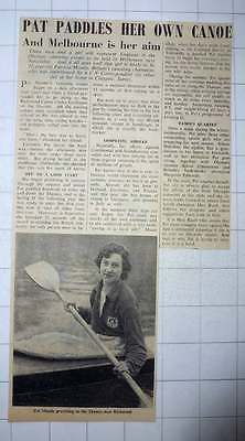 1956 pat moody to represent #england #melbourne #canoeing,  View more on the LINK: 	http://www.zeppy.io/product/gb/2/331753243572/