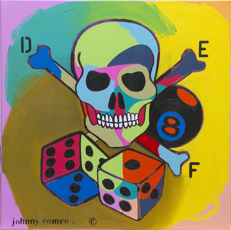 "Def Jam by Johnny Romeo, 2013, acrylic and oil on canvas, 28"" x 28"", Courtesy of Porter Contemporary"