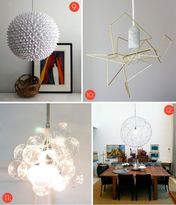 In celebration of Modernism month at Curbly, we rounded up 20 of the best and coolest modern lighting projects on these here Interwebs. Yes, you read that right, TWENTY. So, put on your DIY pants, it's time to get illuminated!