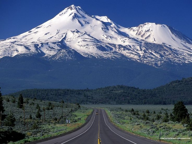 Mt. Shasta looking southwest, south of Dorris California on Highway 97