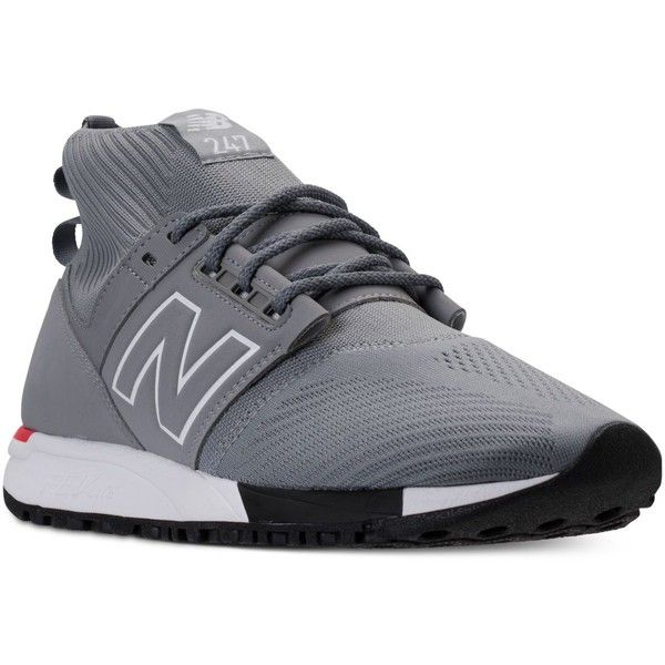 New Balance Men's 247 Mid Casual Sneakers from Finish Line (30 KWD) ❤ liked on Polyvore featuring men's fashion, men's shoes, men's sneakers, new balance mens sneakers, mens sneakers, mens shoes and new balance mens shoes