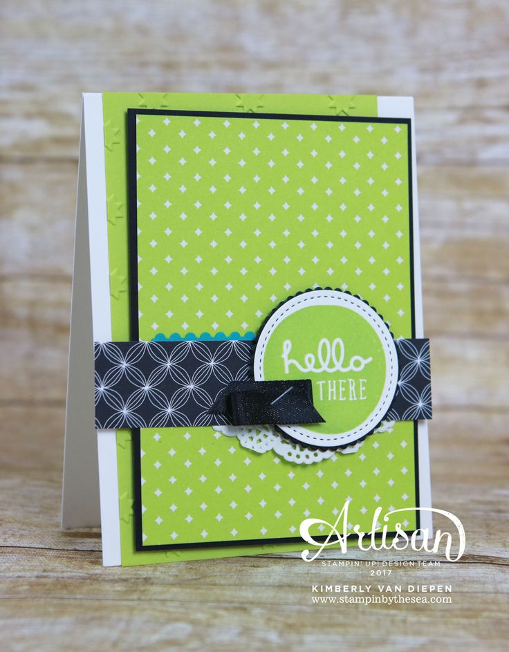 Lemon Lime Twist and Pieces & Patterns stamp set from Stampin' Up!