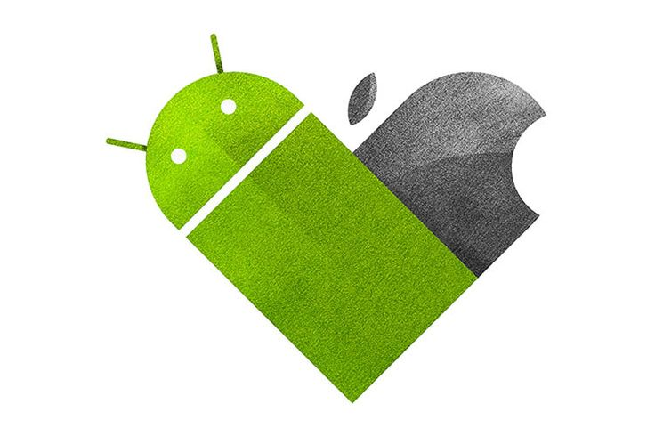 Android vs iOs Versus Hearts - by Dan Matutina