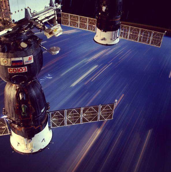 30 saniyede 250 kilometre yol alan Uluslararası Uzay İstasyonu'nun görüntüsü