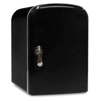 4 Liter AC/DC Portable Mini Fridge Cooler Warmer (Black) Sky Industry