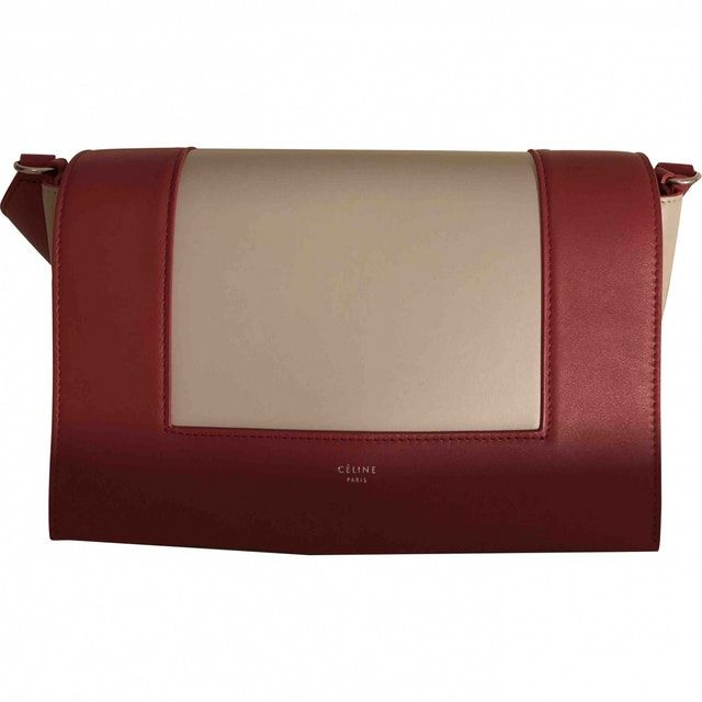 1f6f89f7e8fdcc red Plain Leather CÉLINE Handbag - Vestiaire Collective | Bag Swag