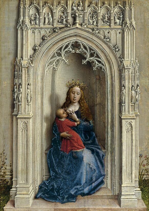 La Virgen con el Niño entronizada Hacia 1433; Roger van der Weyden Museo Thyssen-Bornemisza