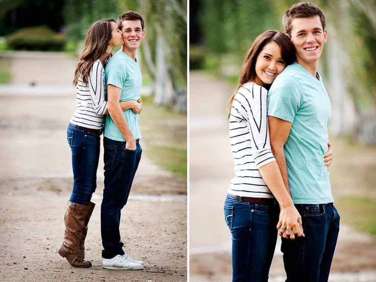 Cute engagement or save the date picture. On the left