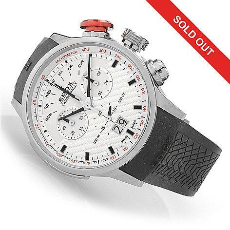 632-792 - EDOX 48mm Chronorally Swiss Made Quartz Chronograph Titanium Watch