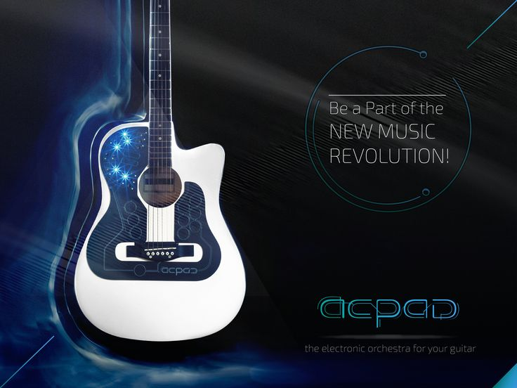 Play hundreds of instruments, samples, effects and loops – on your acoustic guitar. ACPAD puts an electronic orchestra in your hands!