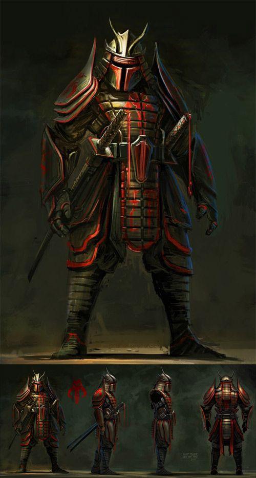 star wars samurai boba fett: Darth Vader, Boba Fett, Stars War, Warriors, Character Illustrations, Samurai Boba, Bobafett, Fans Art, Starwars