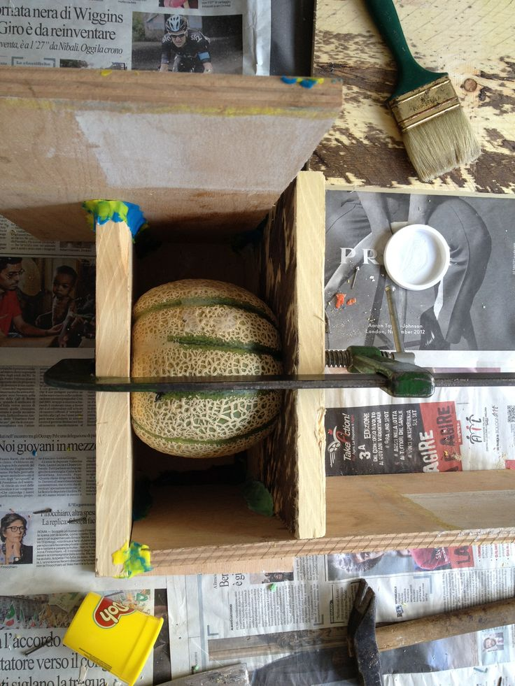 building moulds with melons.