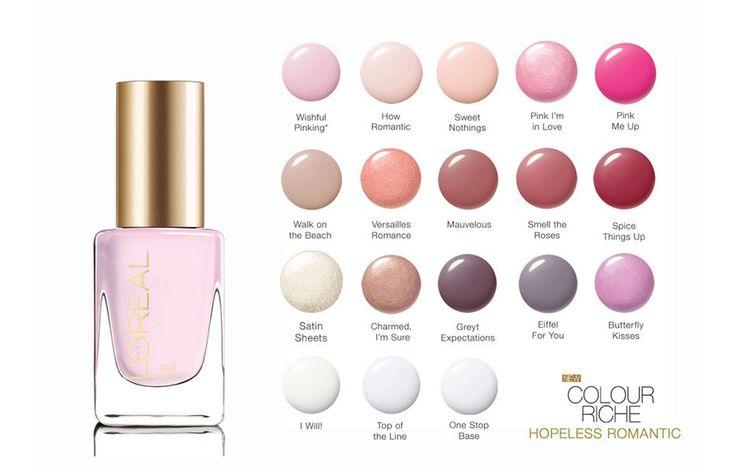 L'Oreal Paris Colour Riche Nail Color [Hopeless Romantic Collection] / CosmeticSanctuary