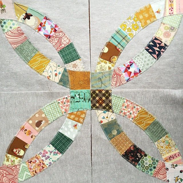 Fake Double Wedding Ring Quilt Tutorial Quilts Pinterest