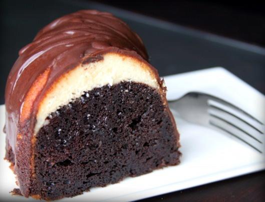 Tunnel of Fudge Ribbon Cake~