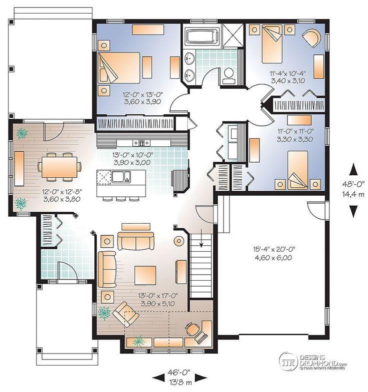 Détail du plan de Maison unifamiliale W3235-V1