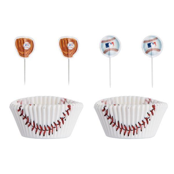 MLB Baseball Cupcake Decorating Kit for 24