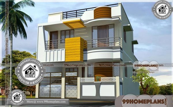 House Plan 3d View With Exterior Elevations 50 Double Storey