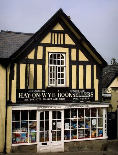 Hay-on-Wye, Wales.  The second biggest second-hand bookstore!  ASPEN CREEK TRAVEL - karen@aspencreektravel.com