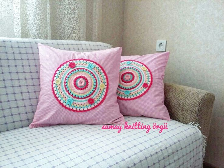 Crochet pillow - orgu kirlent