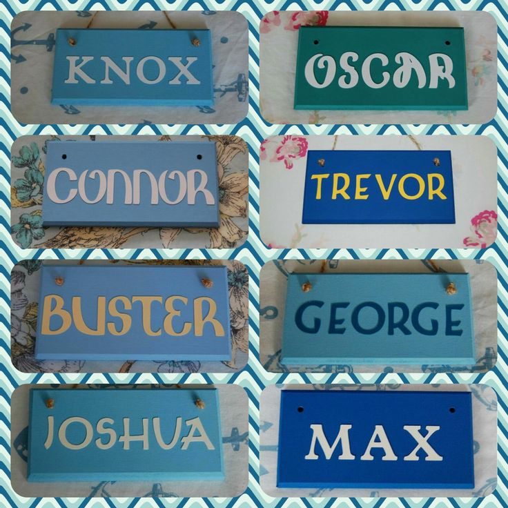 Boys Room Door Name Sign Name Plaque. Any Name (max 6 letters), Any colours. Boys Name Sign Personalised Boys Nursery Boys Gift Boy Bedroom by FairylandDecor on Etsy