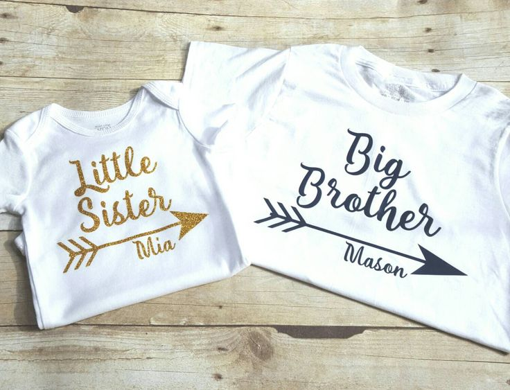 Personalized big brother, little sister shirts, sibling shirt, brother sister shirts by TwoCuteDragonflies on Etsy https://www.etsy.com/listing/251511311/personalized-big-brother-little-sister