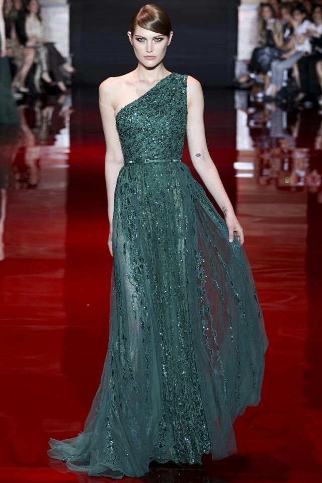 Ellie saab hot fashion pinterest emerald dresses for Hot couture fashion