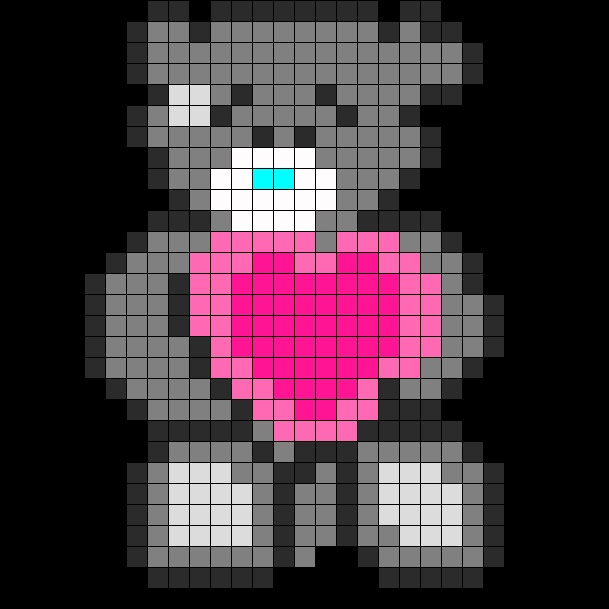 Tatty Teddy Perler Bead Pattern | Bead Sprites | Characters Fuse Bead Patterns