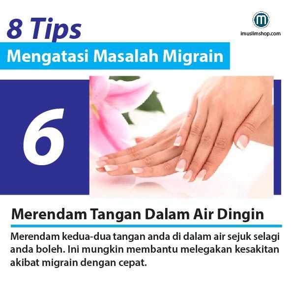 8 Tips Mengatasi Masalah Migrain #sebarkanmanfaat #PhotoViral #imuslimshop #8TipsMengatasiMasalahMigrain