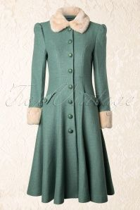 Diva jas ...... Collectif Clothing Annabelle Princess Coat Green